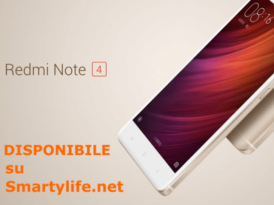 Xiaomi Redmi Note 4 disponibile smartylife