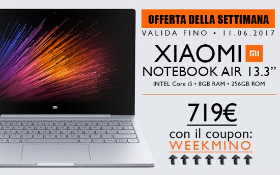 xiaomi mi notebook air offerta