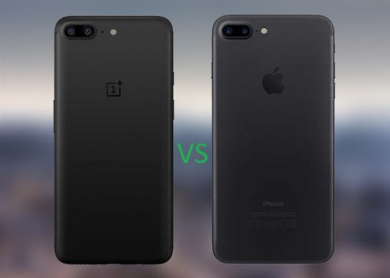 OnePlus 5 vs Iphone 7 Plus velocità