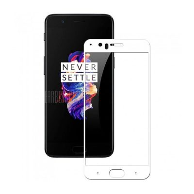smartylife-2.5D 9H Hardness Tempered Glass Full Cover Screen Film Protector for OnePlus 5