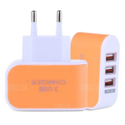 smartylife-3 USB Ports 5V 3A Travel Charger Adapter
