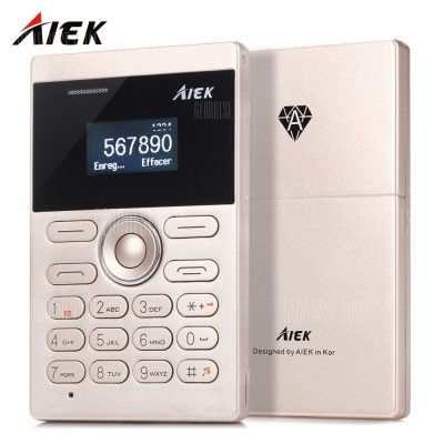 smartylife-AIEK E1 Quad Band Card Phone 1.0 inch