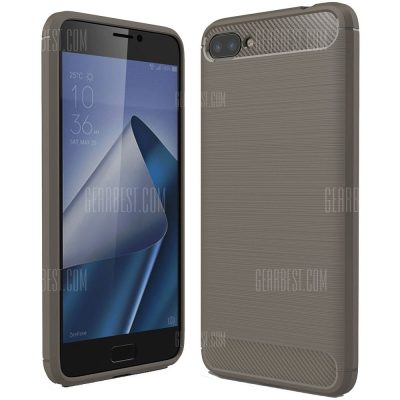 smartylife-ASLING Carbon Fiber TPU Soft Cover for ASUS Zenfone 4 Max Plus (ZC554KL)