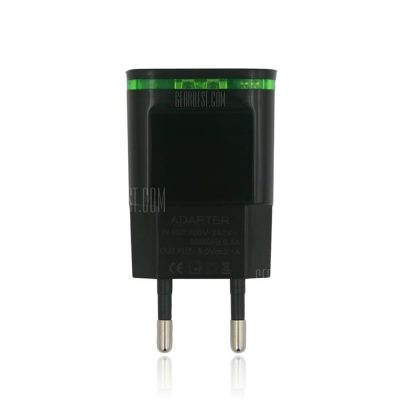 smartylife-Dual USB Fast Charger 5V 2.1A / 1.0A Compatible with Smartphone / Digital Camera / PSP / GPS