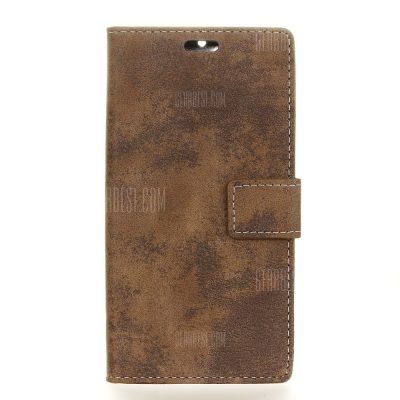 smartylife-Durable Retro Style Solid Color Flip PU Leather Wallet Case for Xiaomi Redmi 4A
