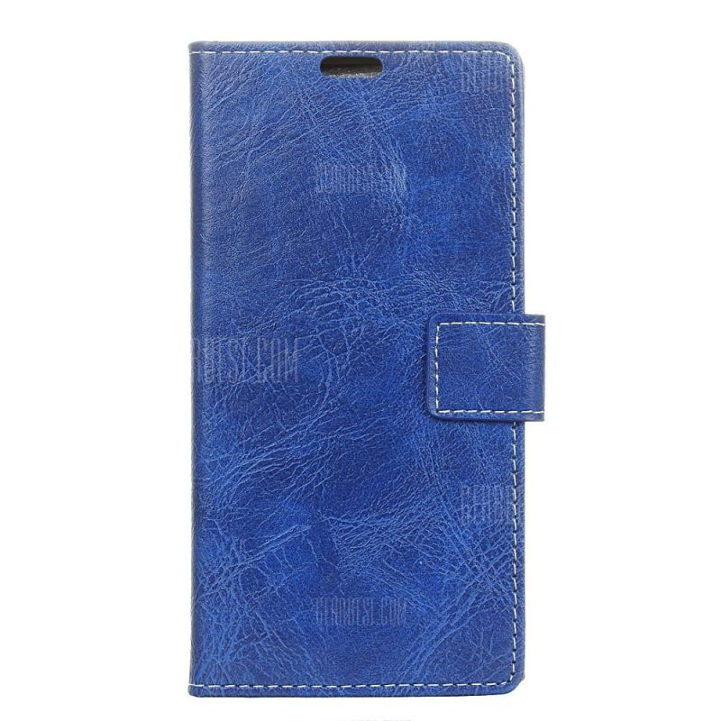 smartylife-Genuine Quality Retro Style Crazy Horse Pattern Flip PU Leather Wallet Case for  Xiaomi Redmi Note 4X