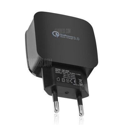 smartylife-QC 3.0 5V/3A Quick Charge EU Plug USB Charger / USB Wall Charger