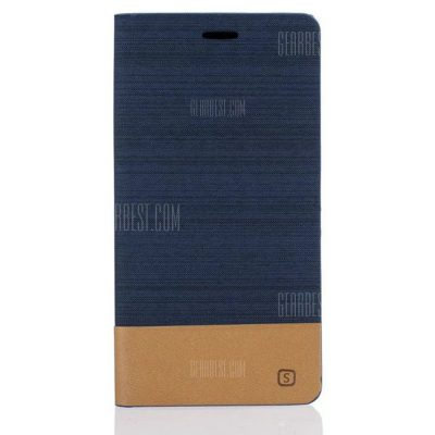smartylife-Simple Style Canvas Design Flip PU Leather Case for Xiaomi Mi Max 2