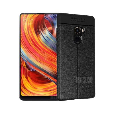smartylife-Smooth Litchi Pattern PU Leather Soft Back Case for Xiaomi Mi Mix 2