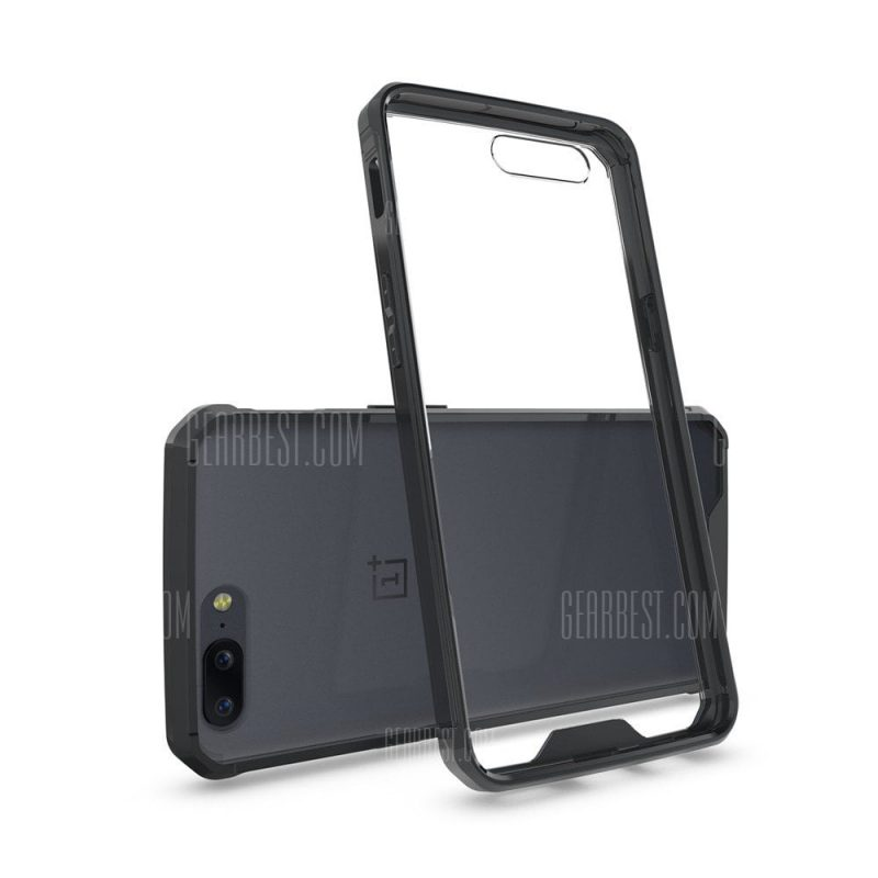 smartylife-Transparent Surface Shockproof Back PC Case for OnePlus 5
