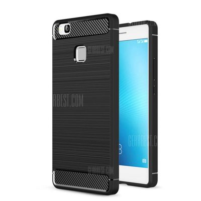 smartylife-Wkae Solid Color Carbon Fiber Texture TPU Soft Protective Case for HUAWEI P9 Lite