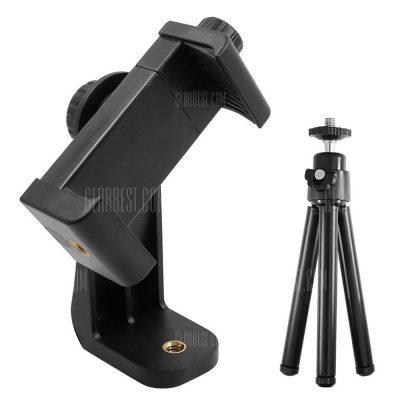 smartylife-360 Degree Adjustable Cellphone Clamp Bracket + Tripod
