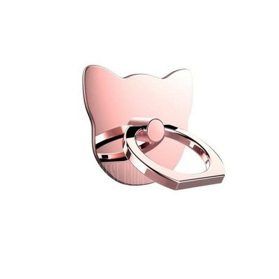 smartylife-360 Degree Cat Metal Finger Phone Ring Holder