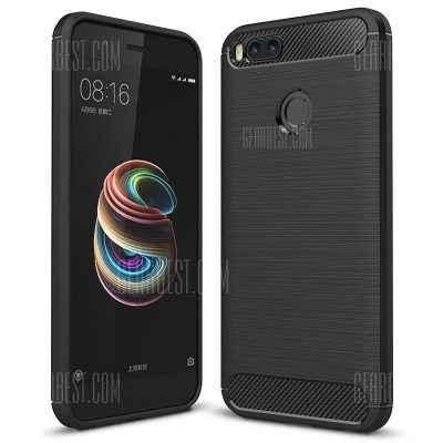 smartylife-ASLING Carbon Fiber TPU Soft Cover for Xiaomi Mi A1