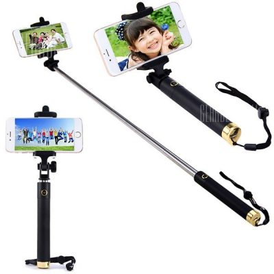smartylife-Bluetooth Wireless RC Self Timer Stretch Camera Monopod with 270 Degrees Rotating Clip Stand
