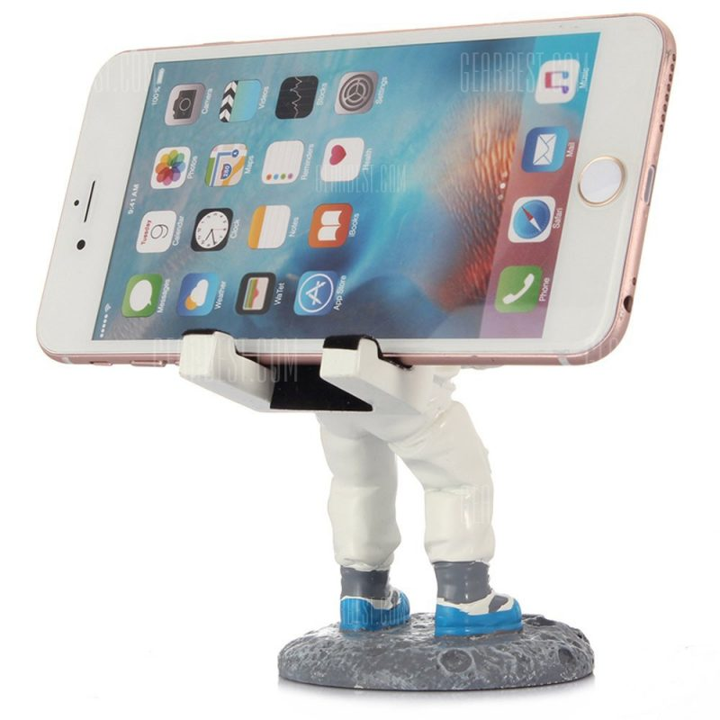 smartylife-Creative Spaceman Pattern Phone Stand Resin Bracket
