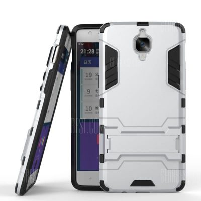 smartylife-Dual Layer Armor Defender Shockproof Protective Hard Case With Stand for OnePlus 3T / 3