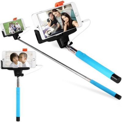 smartylife-Fashionable Self - timer Stretch Camera Monopod with Clip 20cm Audio Cable
