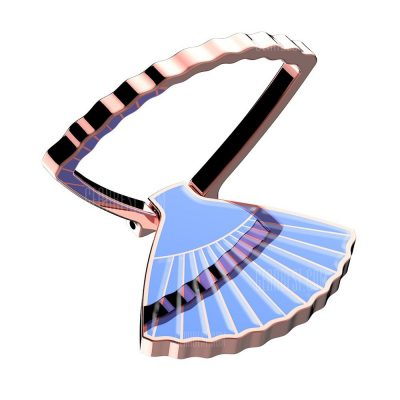 smartylife-GMGSZJ - 01 Retro Fan Style Design Ring Stand Holder