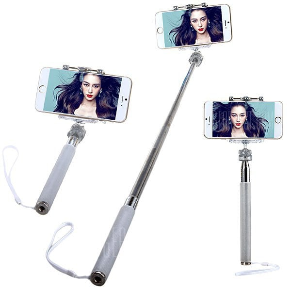 smartylife-M - 335 Fashionable Selfie Stretch Stick Monopod with Rotating Clip Stand