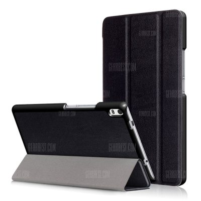 smartylife-PU Tablet Case Folding Stand Function for Lenovo Tab 4 8 Plus
