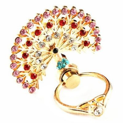 smartylife-Peacock Crystal Design Mobile Phone Ring Holder
