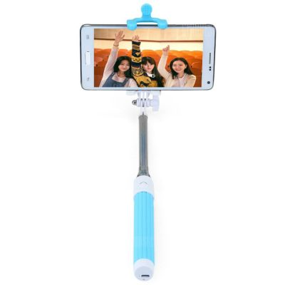 smartylife-Portable Wireless Bluetooth RC Self Timer Stretch Monopod Camera Shutter with Rearview Mirror
