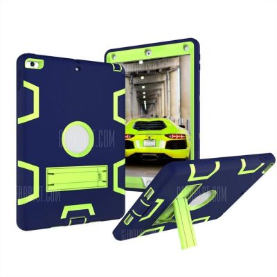 smartylife-Tablet Hybrid Shockproof Protect Armor Holder Heavy Duty Kickstand Cover Shell for New iPad 2017 9.7 Case