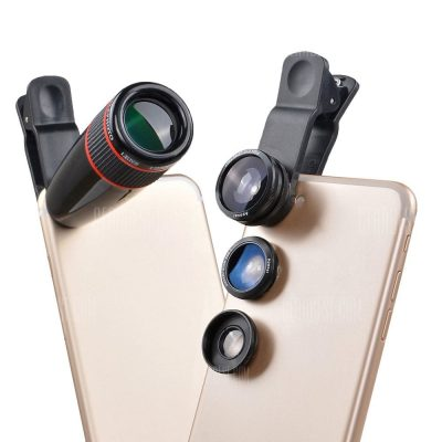 smartylife-APEXEL APL - 12CX3 4 in 1 External Phone Camera Lens Suit