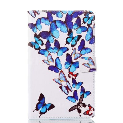 smartylife-Butterfly Ultrathin Luxury Genuine Leather Case for Samsung Galaxy Tab E 8.0  T375 T377V SM-T377 Tablet PC Cover Case