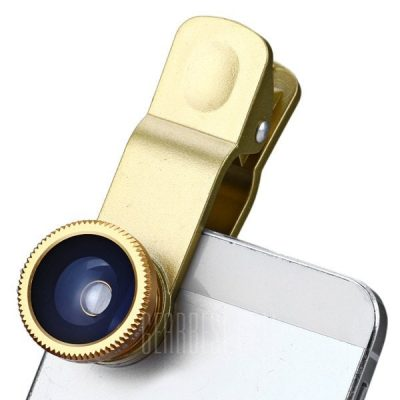 smartylife-Fashionable 3 in 1 Clip Camera Lens Fisheye Macro Wide Angle