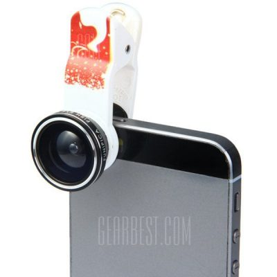 smartylife-Fashionable Xmas - tree Pattern 3 in 1 Clamp Camera Lens Including Fisheye Macro and Wide Angle