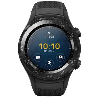 "smartylife-Huawei Watch 2 Smartwatch 1.2"" Android Wear 2.0 Qualcomm Snapdragon Bluetooth 4.1 1.1GHz 768MB RAM 4GB ROM WIFI GPS - Black"