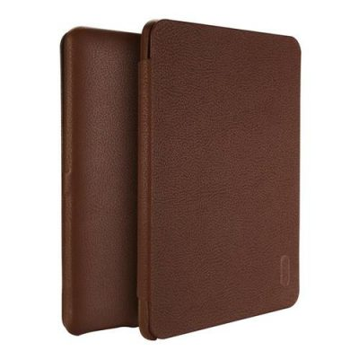 smartylife-Lenuo Protective PU Leather Case with Kickstand for Kindle Paperwhite with Adjustable Support Armband - Brown