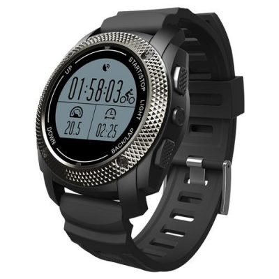 smartylife-Makibes G02 Smart Sport Watch Heart Rate Monitor Pressure/Temperature Measurement Outdoor GPS Fitness Tracker - Black
