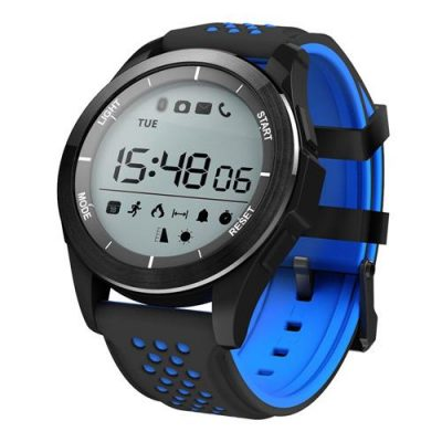 smartylife-NO.1 F3 Smart Watch Air Pressure UV Radiation Bluetooth 4.0 Sport Fitness Tracker Remote Camera Control Compatible with Android iOS - Black & Blue