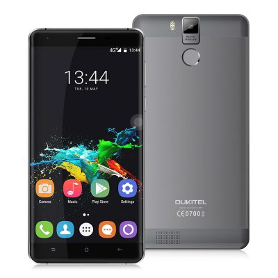 smartylife-OUKITEL K6000 Pro 5.5inch LTPS 2.5D FHD 4G 6000mAh Android 6.0 Smartphone 64-Bit MTK6753 Octa Core 3GB 32GB 16.0MP Touch ID Flash Charge OTG - Grey