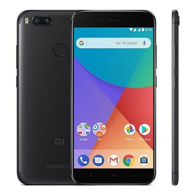 smartylife-[Official Global Version]Xiaomi Mi A1 5.5 inch Smartphone Android One Dual Rear 12.0MP Cam Snapdragon 625 4GB 32GB (Black) + Soft Case + Tempered Glass