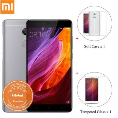 smartylife-[Official Global Version]Xiaomi Redmi Note 4 5.5 Inch 4G LTE Smartphone 3GB 32GB Snapdragon 625 13.0MP (Gray) + Soft Case + Tempered Glass