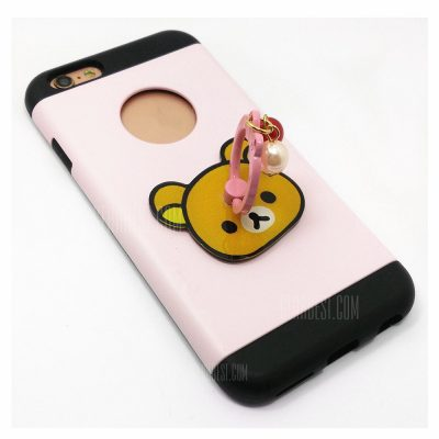 smartylife-PC Universal Mobile Phone Finger Bracket Brown Bear Pattern for iPhone 6 / 6s / 7 / 8