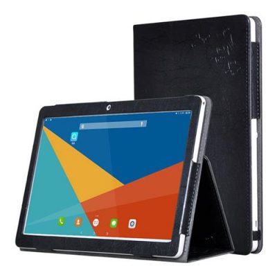 smartylife-Protective Leather Case with Kickstand for Teclast 98 - Black