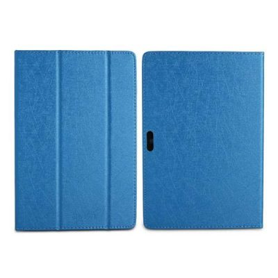 smartylife-Protective Leather Case with Kickstand Adjustable Support Armband for Teclast P10 - Blue