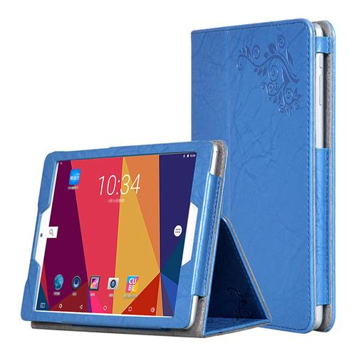 smartylife-Protective Leather Case with Kickstand for Cube iPlay 8 - Blue