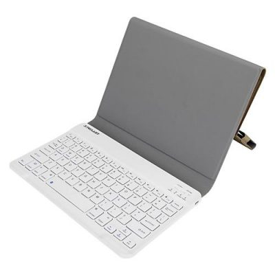smartylife-Protective Leather Case Bluetooth Keyboard with Stand Case for Teclast X98 Plus II  - Brown