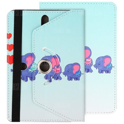 smartylife-SZKINSTON Elephant Love Style Protective Case for 7.0 / 8.0 inch Tablet PC