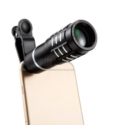 smartylife-Siroflo 12X Metal Zoom Telescope Universal Camera Lens Kit
