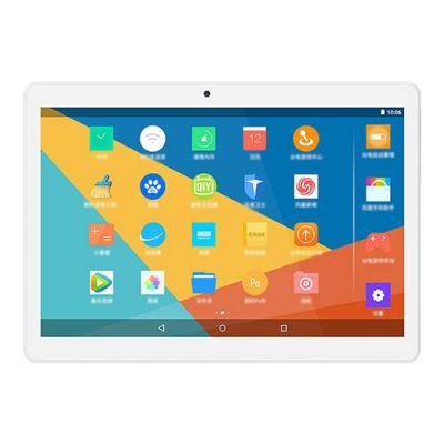 "smartylife-Teclast P10 10.1"" Tablet Quad Core Android 7.1 MT8163 2GB RAM 32GB ROM - Silver/White"