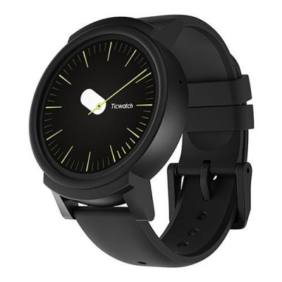 "smartylife-Ticwatch E Sports Smartwatch 1.4"" OLED Display MT2601 Android Wear Bluetooth 300mAh Music GPS WIFI - Shadow"