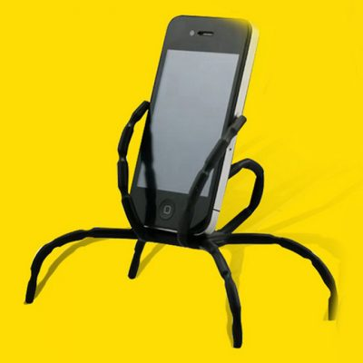 smartylife-Universal Spider Holder for Mobile Phone 8 Leg Cell Phone Spider Holders Bicycle Car Home Use - Black