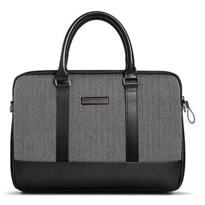 smartylife-WIWU Universal Leather Cloth Notebook Air Laptop Bag for 15.6 Inch - Black